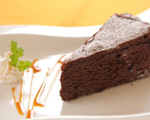 焼き菓子ブルーベリーコース:キャラメルガトーショコラ